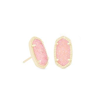 Ellie Stud Earrings in Blue Drusy | Kendra Scott