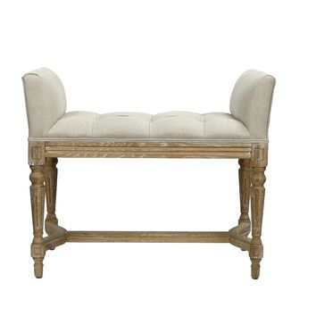 Perscilla Rustic Upholstered Bench