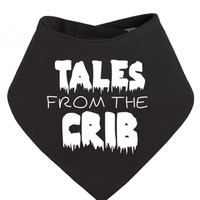Tales From The Crib Old Horror Movie Poster Parody Halloween Baby Bandana Bib