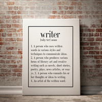 Writer Definition Writing Teacher Student Writer Writing Student English Student English Teacher Writing Quote Writing Poster TYPOGRAPHY