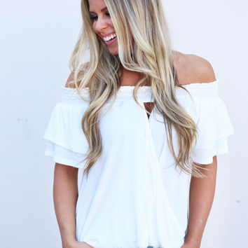 All Wrapped Up Top {Off White}