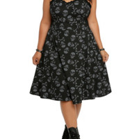 Tripp Skull Print Swing Dress Plus