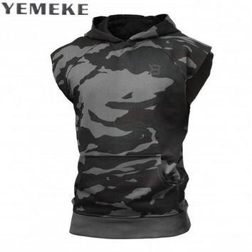 Fashion Casual Classic Solid Color Cotton Hoodies Men Spring New Thin Men Sleeveless Sweatshirts Clothing