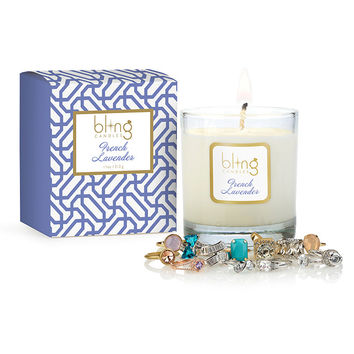 Bling French Lavender Candle with Hidden Jewels