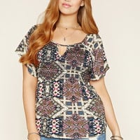 Plus Size Tribal-Inspired Top | Forever 21 PLUS - 2000176328