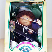 Coleco Cabbage Patch Kids New in Box, 1985 Stanford Clayton, Boy Brown Curly Hair