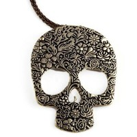Vintage Gothic Skull sweater chain Necklace Free shipping Fashion Jewelry
