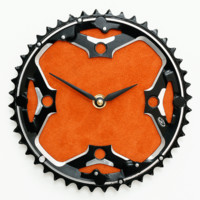 Mountain Bike - Bicycle Wall Clock - Orange