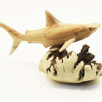 Parasite Wood Hammerhead Shark Carvings