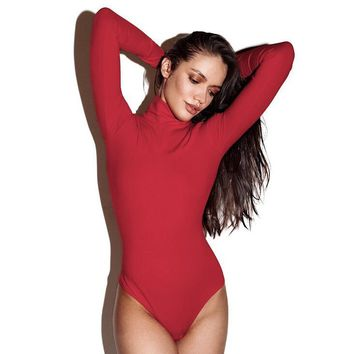 Autumn and winter body sculpting conjoined red self-cultivation high collar warm jacket