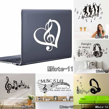 Vinyl Musical Notes  Wall Decor Stickers