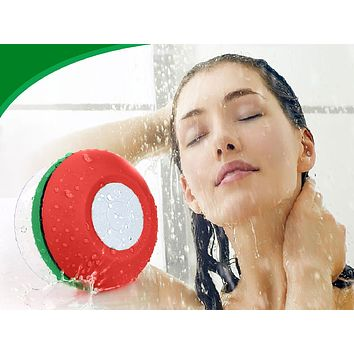 Wireless Bluetooth Water Resistant Speaker with Built-In Mic & LED Lights