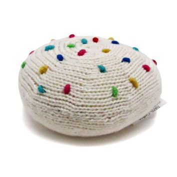 Organic Cookie Rattle Baby Toy
