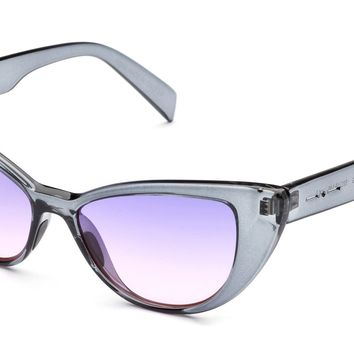 Italia Independent - 0906 Crystal Grey Glossy Sunglasses / Cosmetic Pink Lenses