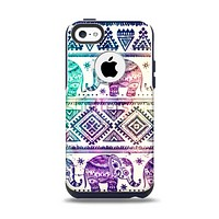The Tie-Dyed Aztec Elephant Pattern Apple iPhone 5c Otterbox Commuter Case Skin Set