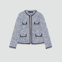 FLECKED CARDIGAN - BLAZERS-WOMAN | ZARA United Kingdom