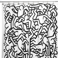 Keith Haring 72-Inch x 72-Inch Shower Curtain