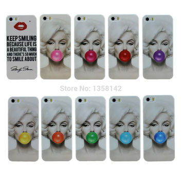 Stylish Marilyn Monroe Bubble Gum Hard Cover Case For Apple iPhone
