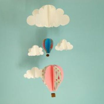 Floating in the Clouds 3D Mobile by goshandgolly on Etsy
