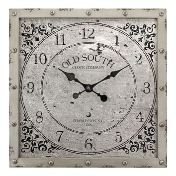 Stonebriar Collection ''Old South'' Square Wall Clock (Brown)