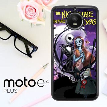 Jack And Sally Muertitos The Nightmare Before Christmas C0092 Motorola Moto E4 Plus Case