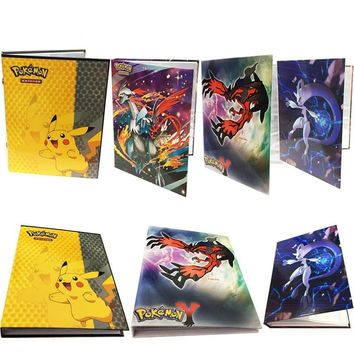 2017 Pikachu Collection  cards Album Book Top loaded List playing  cards holder album toys for Novelty giftKawaii Pokemon go  AT_89_9