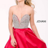 Jovani 24400 Strapless Crystal Bodice Homecoming Dress
