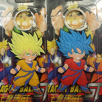 Dragon Ball Z Super Saiyan Goku Keychan Silicone