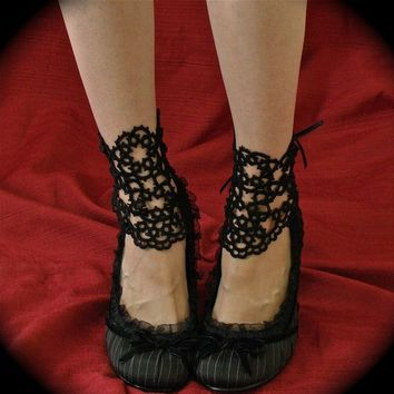 Vanity Ankle Corsets - Tatted Lace Accessories