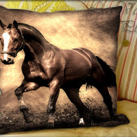 Antique Tone Horse - Pillow Cover and Pillow Case.