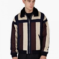 Panelled Lambs Wool Jacket - OkiniUK