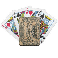 Ouija Board, Skull, and day of the dead playing cards