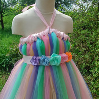 Butterfly tutu – rainbow tutu – empire waist tutu – flower girl tutu dress – baby tutu dress – wedding tutu dress – birthday tutu dress