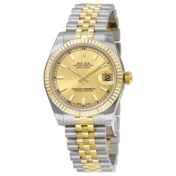 Rolex Datejust Champagne Dial Automatic Stainless Steel and 18kt Gold Ladies