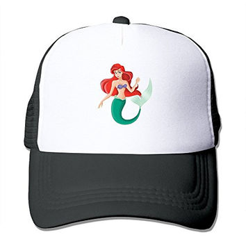 New Style Adult Unisex The Little Mermaid 100% Nylon Mesh Caps One Size Fits Most Adjustable Mesh Cap