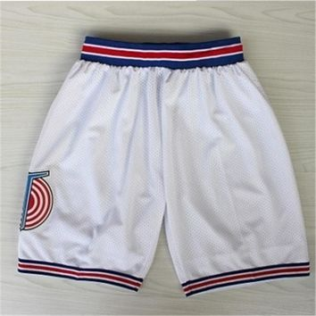 Space Jam TuneSquad Basketball Shorts Jerseys Stitched Running Sports Training Short Trousers