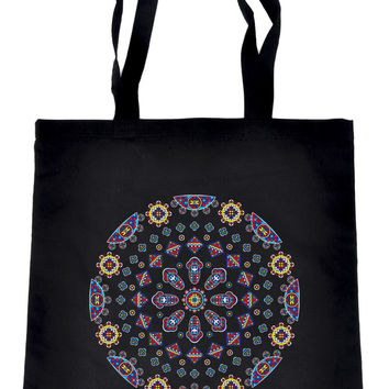 Geometric Gothic Stained Glass Window Tote Book Bag Alternative Clothing Handbag