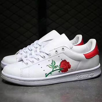Adidas: Embroidered Flower casual shoes  Worth having