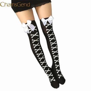 Chamsgend Winter Socks Women High Quality Knitted Stockings Knee Socks Thick Warm Socks Leg Warmers Woman Thigh Stocking 77#