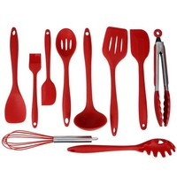 Hoomall 10pcs/set Silicone Cookware Set for Kitchen Silicone utensil set Cooking Tools Non-stick Pan Kitchenware Set