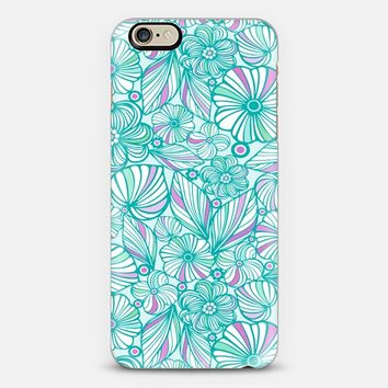 Lovely turquoise flowers iPhone 6 case by Julia Grifol Diseñadora Modas-grafica | Casetify