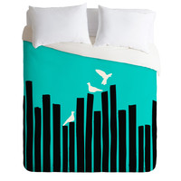 Budi Kwan On The Fence Blue Duvet Cover