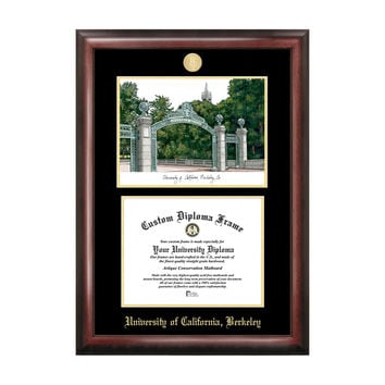 Campus Images Sports Team Logo Design University Of California, Berkeley Gold Embossed Diploma Frame With Campus Images Lithograph
