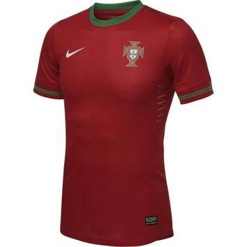 Nike Portugal Soccer Red Home Authentic Jersey