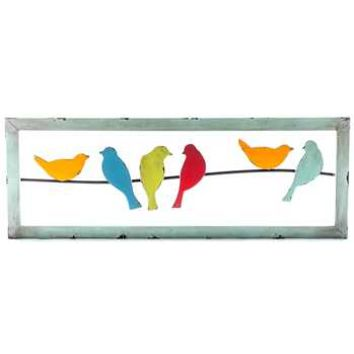 Colorful 6-Birds on a Wire Metal Wall Decor | Hobby Lobby | 970863