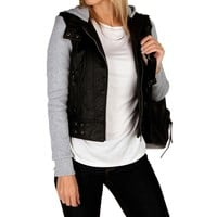 Promo-faux Leather Light Jacket