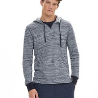 Banana Republic Mens Plaited Navy Jersey Hoodie