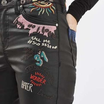 MOTO Scribble Embroidered Coated Jamie Jean