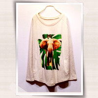 Elephant Women Sweatshirt Jumper Dress