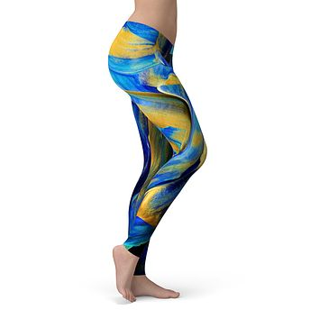 Liquid Abstract Paint V65 - All Over Print Womens Leggings / Yoga or Workout Pants